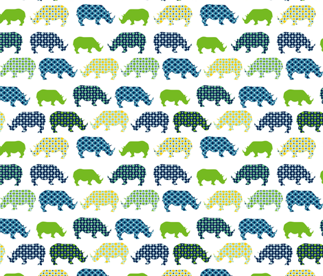 UC2_Rhinos_rev fabric by lauriewisbrun on Spoonflower - custom fabric