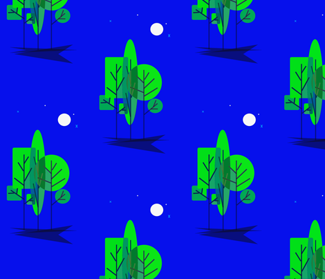 ThreeTrees fabric by retroretro on Spoonflower - custom fabric