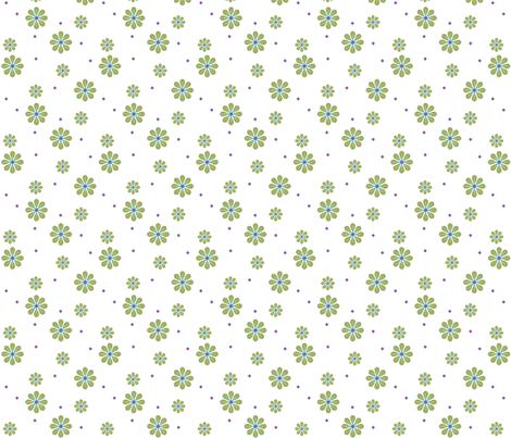 daisy tile: scattered daisy fabric by cindilu on Spoonflower - custom fabric