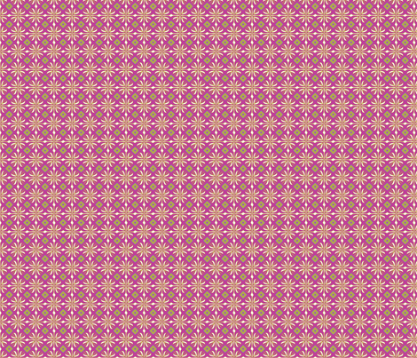 daisy tile: raspberry squares fabric by cindilu on Spoonflower - custom fabric