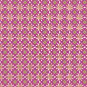 daisy tile: raspberry squares