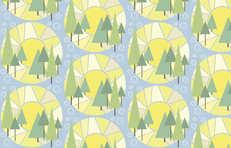 Peaceful Mornings fabric by bojudesigns on Spoonflower - custom fabric