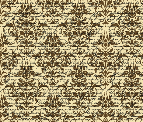 Jane Austen Damask fabric by peacoquettedesigns on Spoonflower - custom fabric