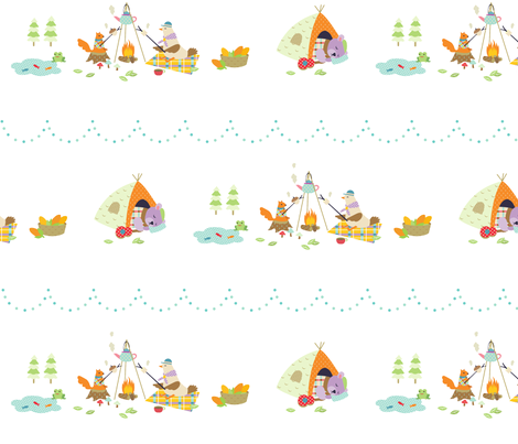 Camping fabric by veest on Spoonflower - custom fabric