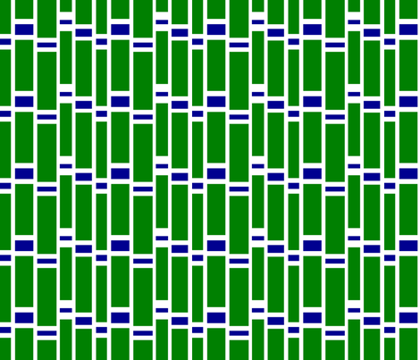 Preppy Stripes (Green/Blue) fabric by stitching_dvm on Spoonflower - custom fabric