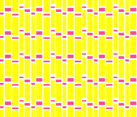 Preppy Stripes (Yellow/Pink) fabric by stitching_dvm on Spoonflower - custom fabric