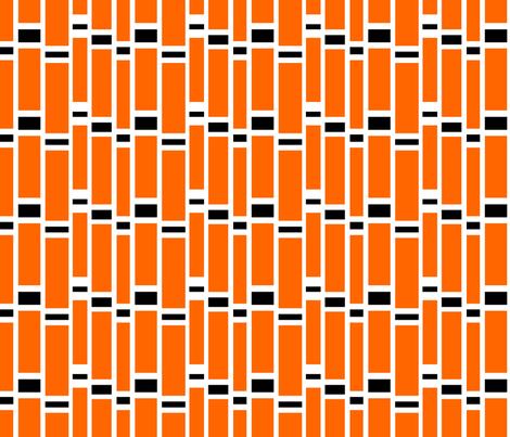 Preppy Stripes (Orange/Black) fabric by stitching_dvm on Spoonflower - custom fabric