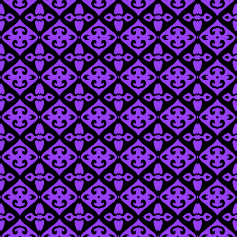 Black Diamond (purple) fabric by ladyleigh on Spoonflower - custom fabric