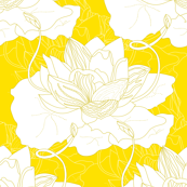 Lotus (White on Yellow)