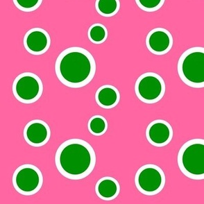 Preppy Dots (Pink/Green)