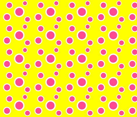 Preppy Dots (Yellow/Pink) fabric by stitching_dvm on Spoonflower - custom fabric