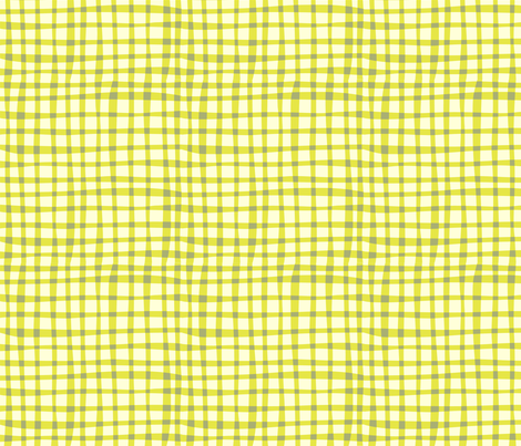 Nesting green gingham fabric by bzbdesigner on Spoonflower - custom fabric