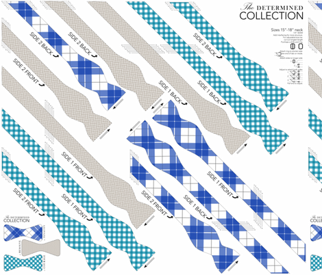 BOWTIE DIY: Determined Collection fabric by avelis on Spoonflower - custom fabric