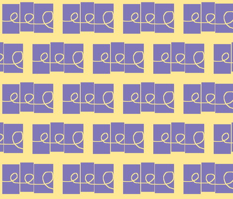 Doodling - small, pale yellow and lavender fabric by susaninparis on Spoonflower - custom fabric
