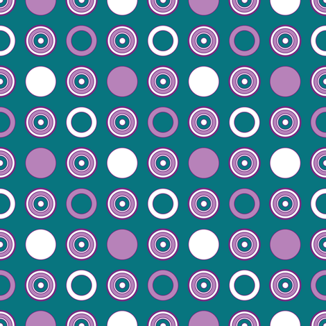 Teal Dots & Hoops fabric by jjtrends on Spoonflower - custom fabric