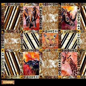 African_Wild_Animal_Quilt_Top_Half