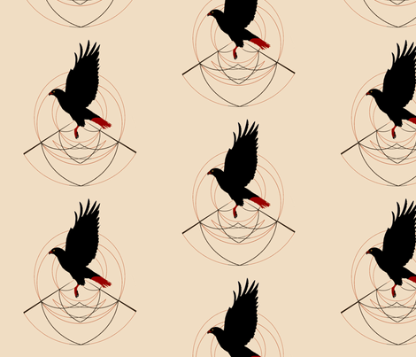 Red Tailed Hawk  fabric by featheralchemist on Spoonflower - custom fabric