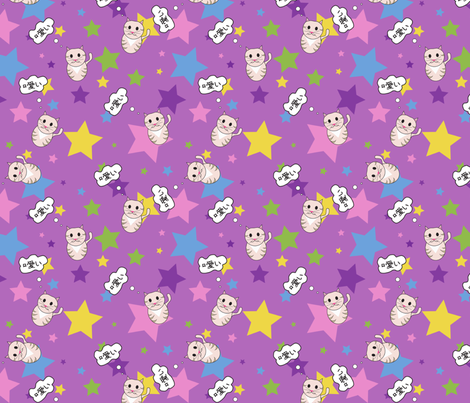 _2 fabric by strawberrynoodle on Spoonflower - custom fabric