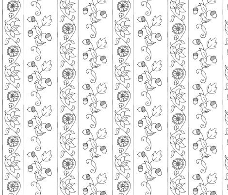 Blackwork 2 fabric by thepixelpinup on Spoonflower - custom fabric