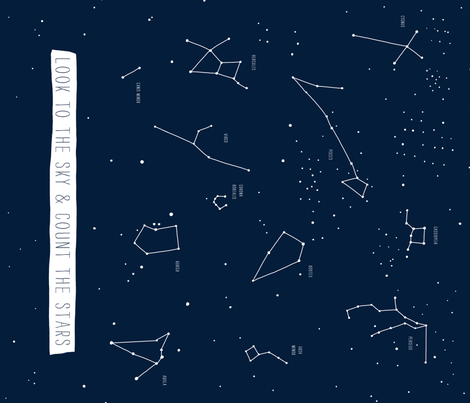 Star Map  fabric by patriciamassie on Spoonflower - custom fabric