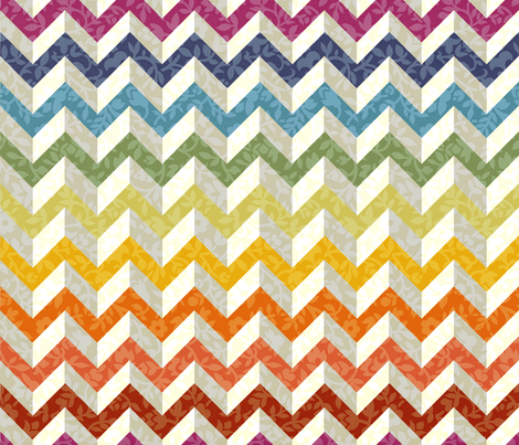 Chevron Flowers fabric by policunha on Spoonflower - custom fabric