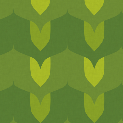 Leaves - summer fabric by jwitting on Spoonflower - custom fabric
