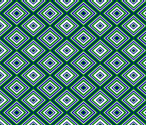 Preppy Diamonds (Green/Blue) fabric by stitching_dvm on Spoonflower - custom fabric