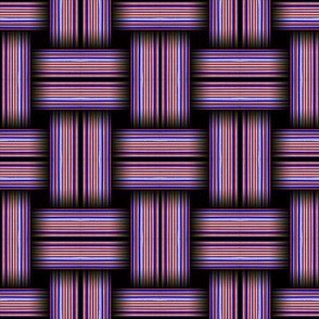 Striped Weave Red and Blue