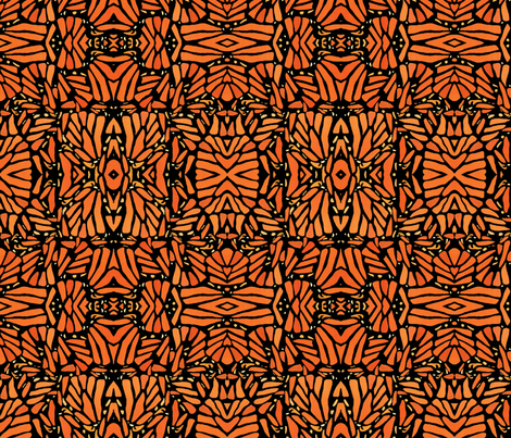 Monarch Wing Blocks fabric by eyespotdesigns on Spoonflower - custom fabric