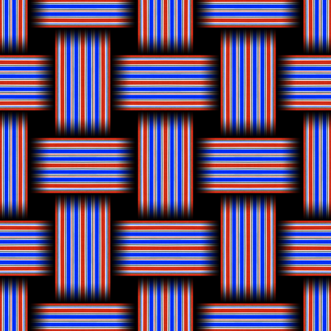 Striped Weave Red White and Blue