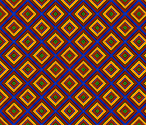 Quadrichrome Squares fabric by galleryhakon on Spoonflower - custom fabric