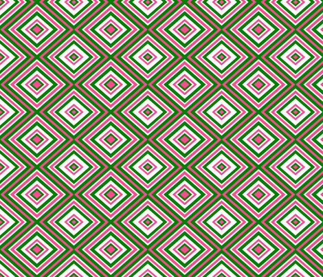 Preppy Diamonds (Pink/Green) fabric by stitching_dvm on Spoonflower - custom fabric
