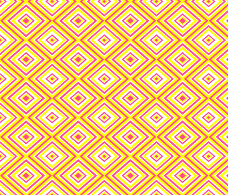 Preppy Diamonds (Yellow/Pink) fabric by stitching_dvm on Spoonflower - custom fabric