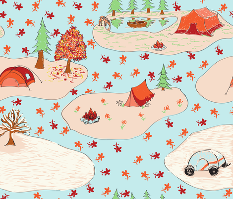 campseasons fabric by beary_organics on Spoonflower - custom fabric