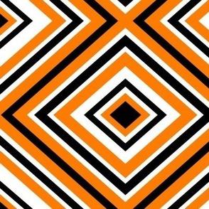 Preppy Diamonds (Orange/Black)