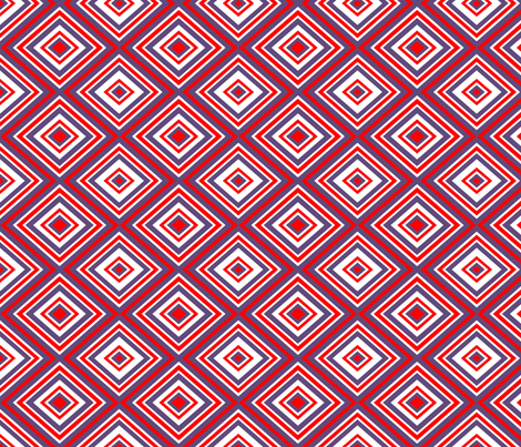 Preppy Diamonds (Red/Purple) fabric by stitching_dvm on Spoonflower - custom fabric