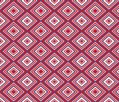 Preppy Diamonds (Red/Purple) fabric by stitching_dvm on Spoonflower - custom fabric
