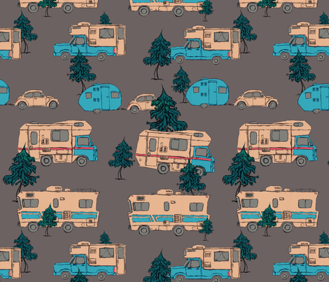 Campers fabric by edlasher on Spoonflower - custom fabric