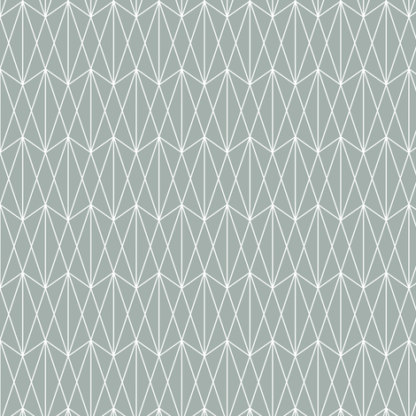 Diamond Grid - Teal Gray (small) fabric by kimsa on Spoonflower - custom fabric