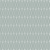 Diamond Grid - Teal Gray (small)