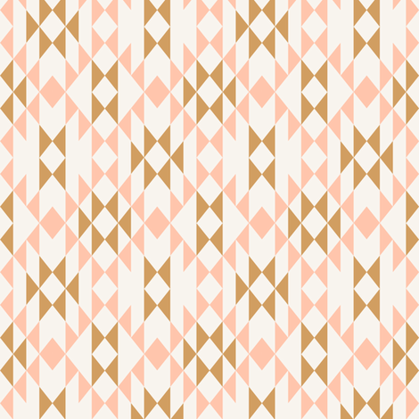 Coral Gold (small)  fabric by kimsa on Spoonflower - custom fabric