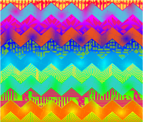Andi's Chevron Cheater Quilt fabric by andibird on Spoonflower - custom fabric