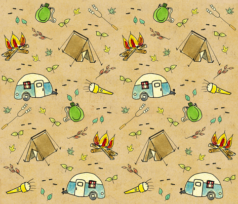 camping_small fabric by kvasgaard on Spoonflower - custom fabric