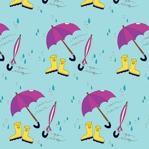 rainy day in purple