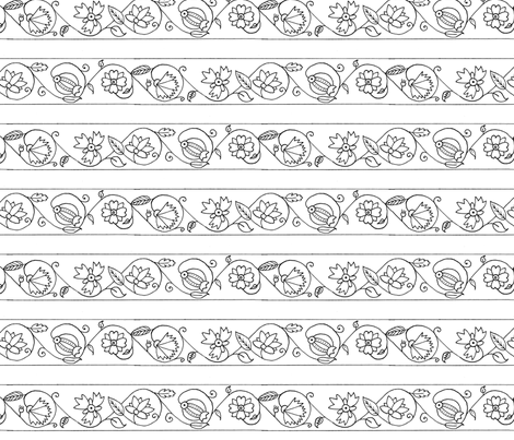 Blackwork 3b fabric by thepixelpinup on Spoonflower - custom fabric