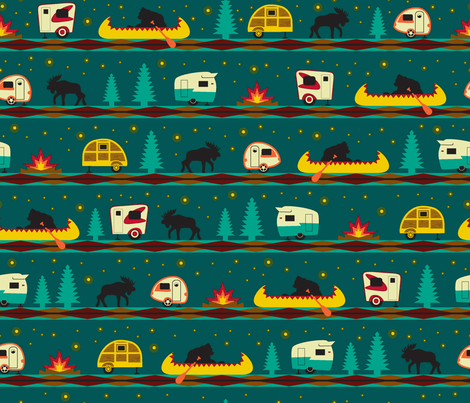 Camp Firefly fabric by wendy_lin on Spoonflower - custom fabric
