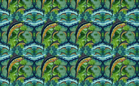 Blue_Marlin fabric by art_on_fabric on Spoonflower - custom fabric