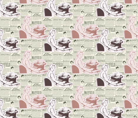 Secretarial School Colour fabric by lusyspoon on Spoonflower - custom fabric