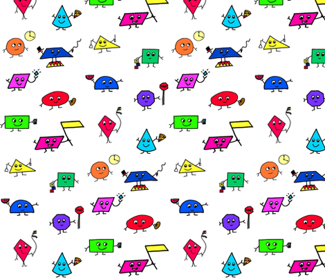 Shapes! fabric by tanith on Spoonflower - custom fabric