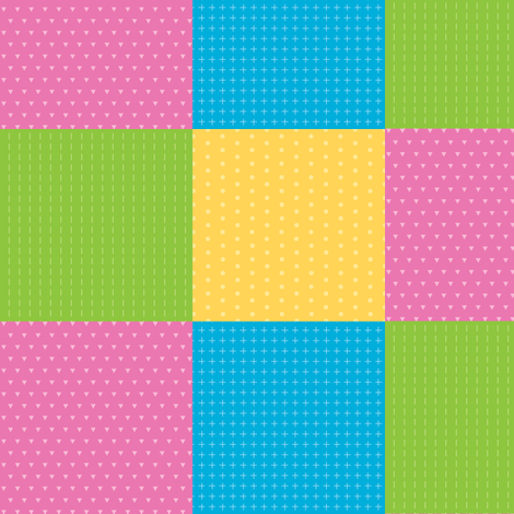 Dinosaurs squares pink fabric by petitspixels on Spoonflower - custom fabric